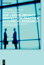 Buchcover G3P – Good Privacy Protection Practice in Clinical Research